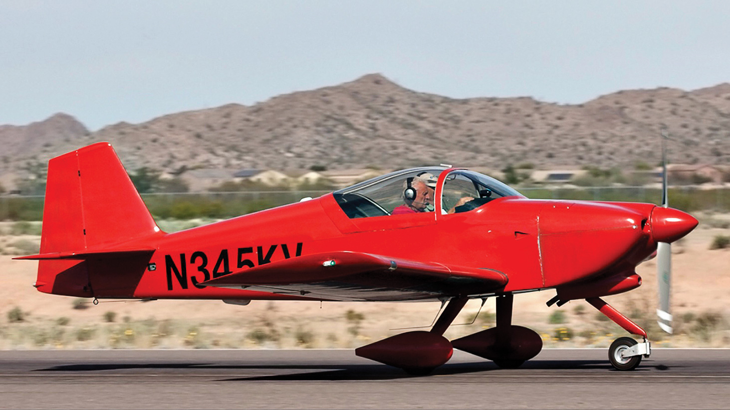 Although the Sun Lakes Aero Club has been inactive for more than a year because of the COVID-19 virus, several members continue to fly their aircraft based at the Chandler Municipal Airport. Pictured is a RAV-6 owned by Cannon Hill.