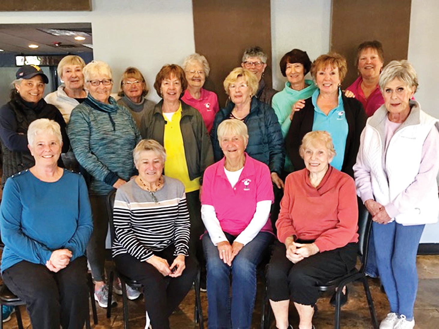 Back row (left to right): Mary Bohren, Jan Sykes, Liz Tollefsen, Jackie Aagaard, Rose Gallagher, Rosie Raisanin; second row (left to right): Ann Hegney, Lavonne Mensink, Bev Jur, Fran Kleinsteuber, Sue Parmenter, Sheila Barton; front row (left to right): Susan Geis, Ardyce Gibson, Irene Anderson, Lillian Look