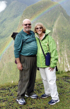 Wayne Karp, March IMGA Golfer of the Month, with his wife Janet at Machu Picchu