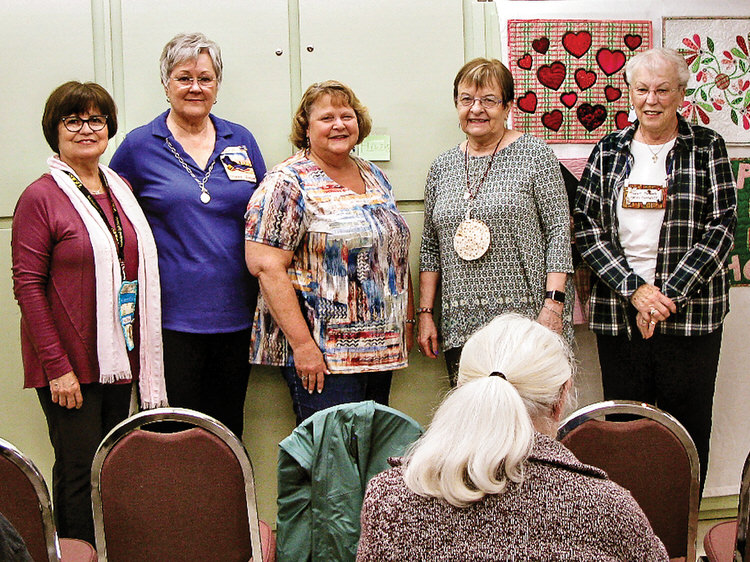 Officers elected March 2020 before lock-down orders: Blanca Sanchez, Diana Jones, Laurie Orendorff, Diane Mitchell, and Nancy Bonngard
