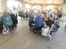 Cheers members gathering at Sisk Park