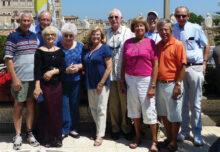 Left to right: Nick Bogdanoff, Mike Melnyk, Tami Bogdanoff, Ilona Melnyk, Jeanette Rajamaki, Ray Rajamaki, Barb Castro, Pam Johnson, Rich Castro, and Ray Johnson