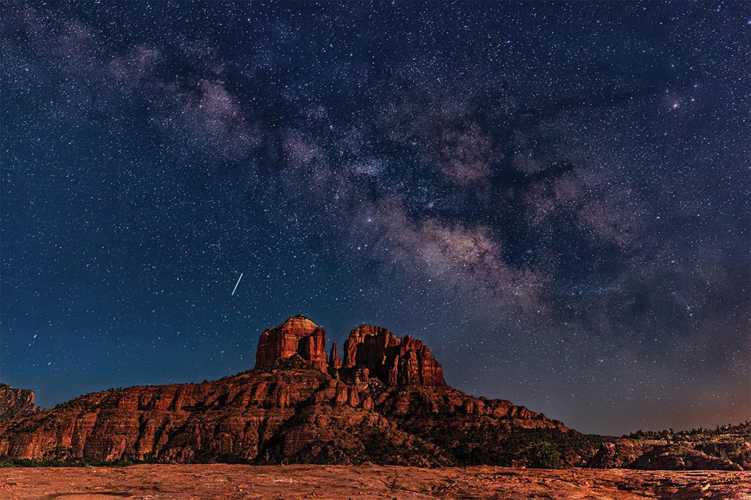 Milky Way over Sedona by Janet Ballard